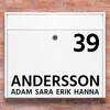 Brevlåda stickers - 1 Namn klistermärke för brevlåda