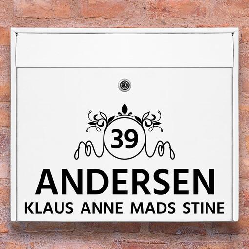 Brevlåda stickers - 2 dekoration klistermärke för brevlåda