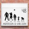 Brevlåda stickers - #2 zombie familj klistermärke för brevlåda
