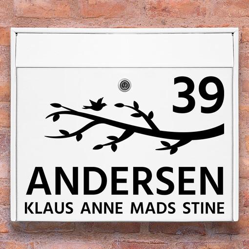Brevlåda stickers - Gren klistermärke för brevlåda