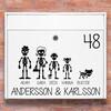 Brevlåda stickers - Skelett familj klistermärke för brevlåda