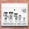 Brevlåda stickers - Pirat familj klistermärke för brevlåda