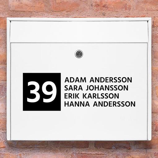Brevlåda stickers - 2 namnskylt klistermärke för brevlåda