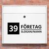 Brevlåda stickers - 1 företagsnamn klistermärke för brevlåda