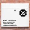 Brevlåda stickers - 3 Namn stickers klistermärke för brevlåda