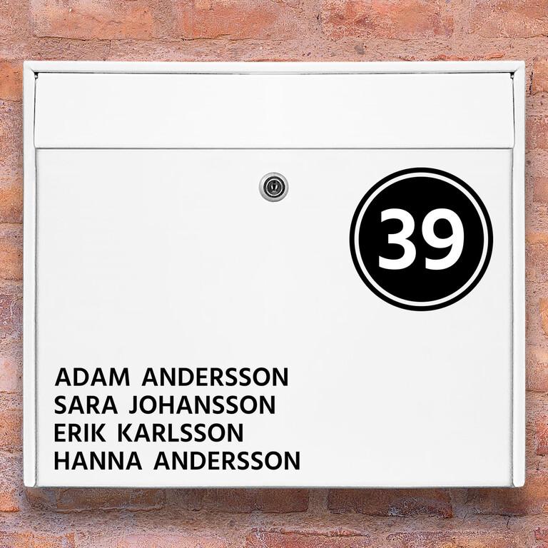 Brevlåda stickers – 3 Namn stickers klistermärke för brevlåda