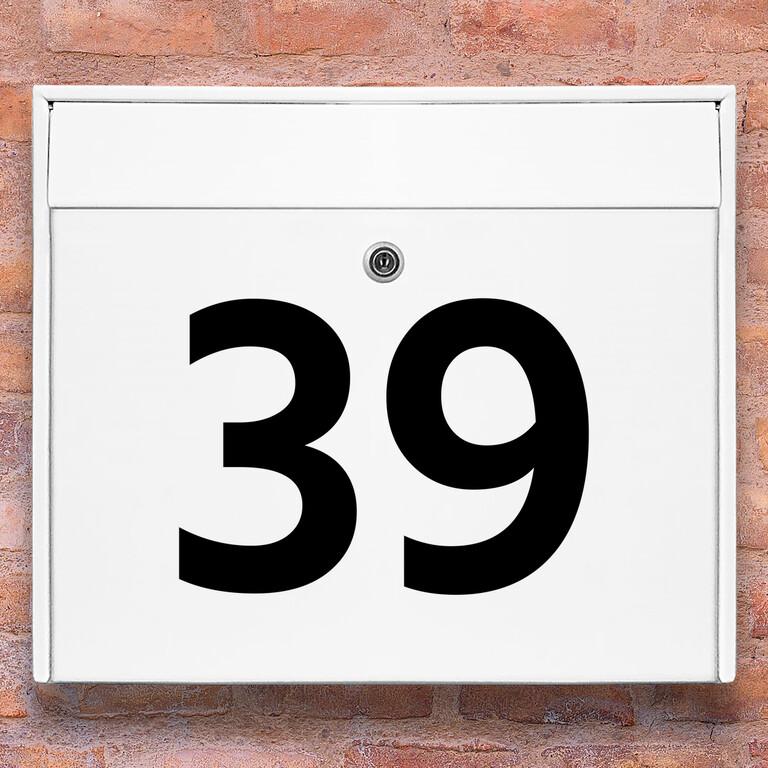 Brevlåda stickers – husnummer klistermärke för brevlåda