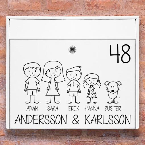 Brevlåda stickers - #1 familj klistermärke för brevlåda