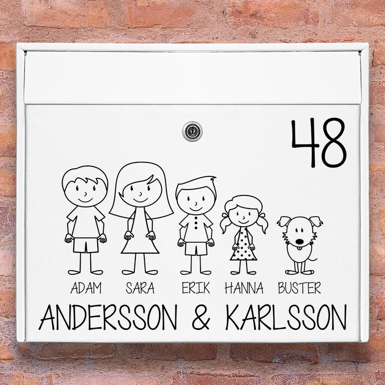 Brevlåda stickers – #1 familj klistermärke för brevlåda