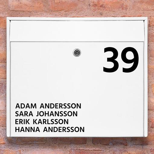 Brevlåda stickers - 1 namnskylt klistermärke för brevlåda