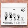 Brevlåda stickers - #2 familj klistermärke för brevlåda