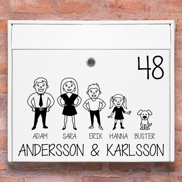 Brevlåda stickers – #2 familj klistermärke för brevlåda