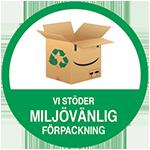 Vi stöder miljövänlig förpackning